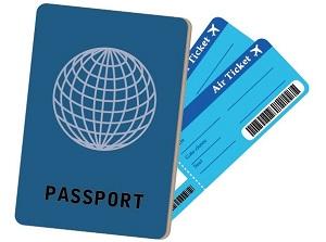 パスポートとチケット