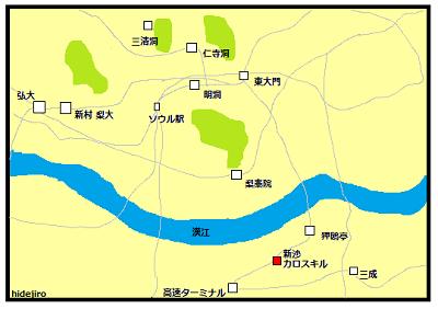 シンサの地図