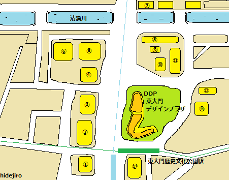 東大門ファッションビル見取り図
