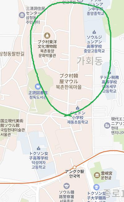 北村の地図